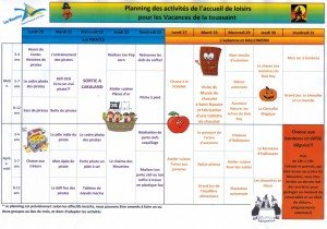 Planning vacances format image